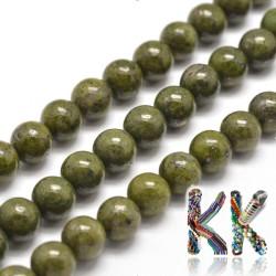 Přírodní zelený granit- ∅ 8 mm - kuličky