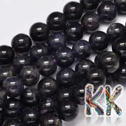 Přírodní iolit - ∅ 8 mm - kuličky