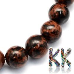 Přírodní mahagonový obsidián - ∅ 6,5 mm - kulička