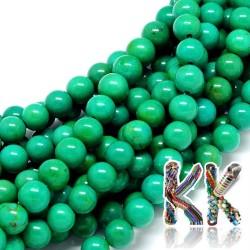 Přírodní zelený sinkiangský tyrkys - ∅ 6 mm - kulička