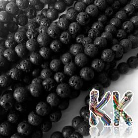Přírodní černá láva - ∅ 8 mm - kuličky