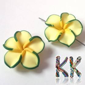 Kytička - zelenožlutá - ∅ 30 mm