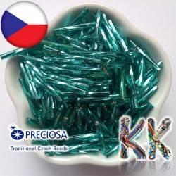 Preciosa Čípky - průhledné kroucené se stříbrnou linkou - ∅ 2,1 x 20 mm