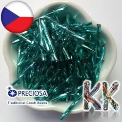 Preciosa Čípky - průhledné kroucené se stříbrnou linkou - ∅ 2,1 x 30 mm