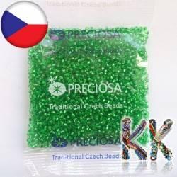 Rokajl Preciosa - průhledný se stříbrnou linkou - 9/0 - ∅ 2,6 mm