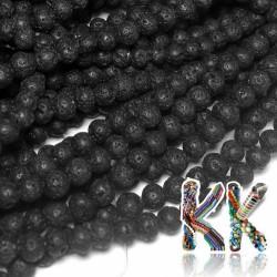 Lávové korálky - kuličky - ∅ 4 mm