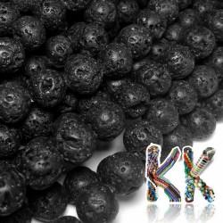 Přírodní černá láva - ∅ 10 mm - kuličky