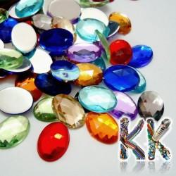 Akrylový broušený kabošon - ovál - 25 x 18 x 6 mm