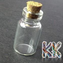 Přívěsek skleněná lahvička - ∅ 13 x 23 mm