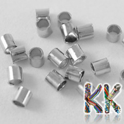 Zamačkávací rokajl trubičkovitý - ∅ 1,5 x 1,5 mm (1 g)