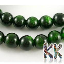 Temně zelený sluneční kámen - kulička - ∅ 8 mm