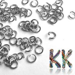 Nerezové spojovací kroužky - ∅ 4 mm - množství 1 g (cca 45 ks)