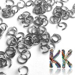 Nerezové spojovací kroužky - ∅ 5 mm (8 ks)