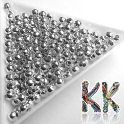 Mosazný oddělovací korálek - kulička - ∅ 4 mm - množství 1 g (cca 10 ks)