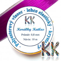 Polyesterové vlákno - krystalové barevné - ∅ 0,8 mm - návin 10 m