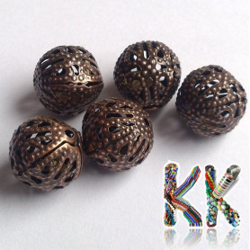 Filigránový korálek - kulička -∅ 12 mm
