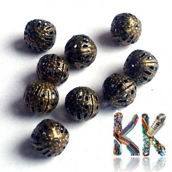 Filigránový korálek - kulička -∅ 8 mm
