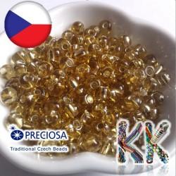 Preciosa Drops - 2/0 - průhledný se stříbrnou linkou