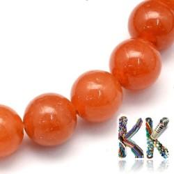 Přírodní červený avanturín - ∅ 8,5 mm - kulička