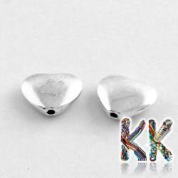 Kovový oddělovací korálek - srdíčko - 8 x 10,5 x 3 mm