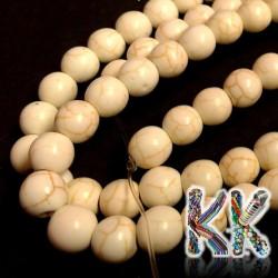 Syntetické tyrkenitové korálky - ∅ 8 mm - barvené kuličky