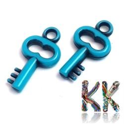 Akrylový přívěsek - klíček - 10 x 17 x 2 mm