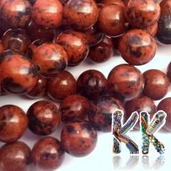 Korálky z mahagonového obsidiánu - kulička - ∅ 8 mm
