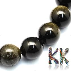 Přírodní zlatavý obsidián - kulička - ∅ 8,5 mm