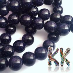 Temně modrý sluneční kámen -  kulička - ∅ 8 mm