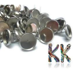 Puzeta z nerezové ocele - platinová - ∅ 12 mm (1 pár)