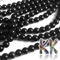Přírodní obsidián - ∅ 6 mm - kulička