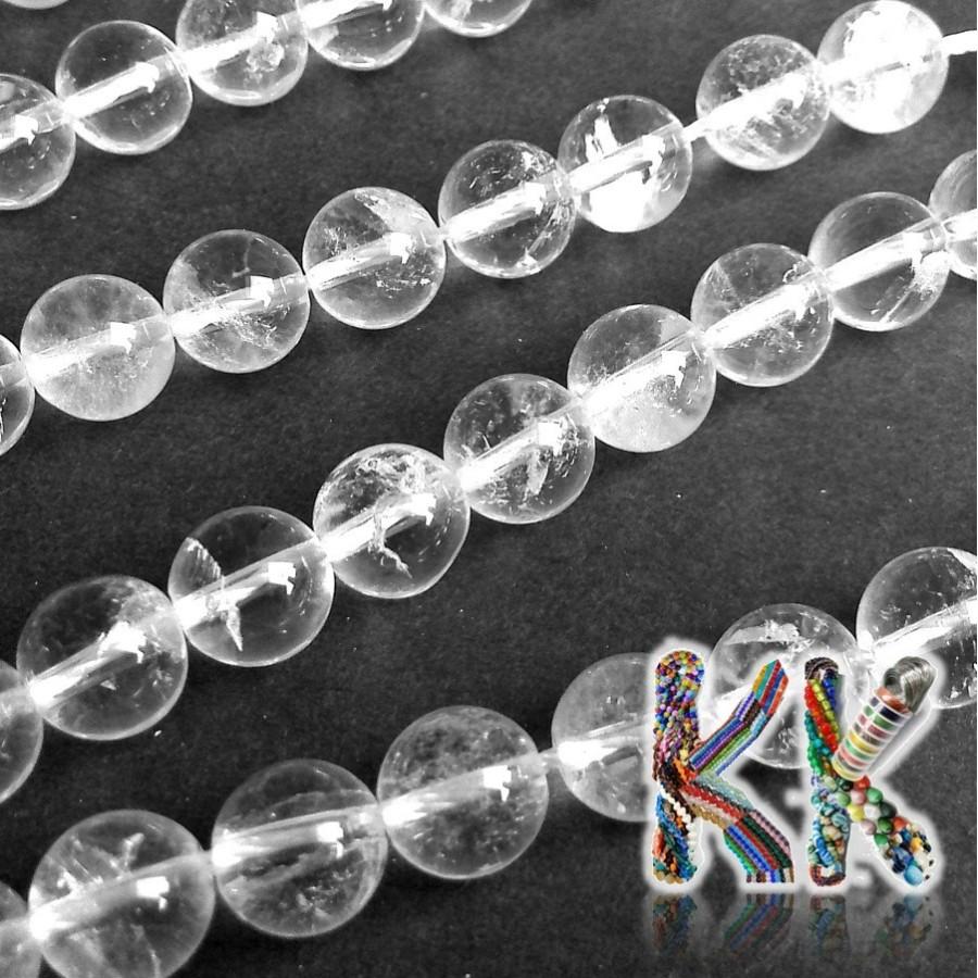 Přírodní křišťál - kulička - ∅ 8 mm