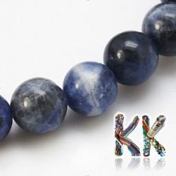 Přírodní sodalit - ∅ 8 mm - kulička - kvalita A
