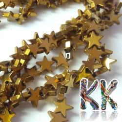 Nemag. hematit - hvězda - pokovený - 8 x 8 x 2 mm - kvalita A