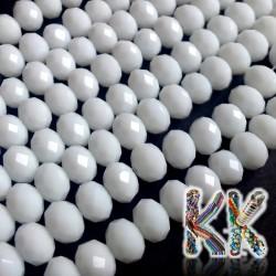 Broušená rondelka - ∅ 8 x 6 mm - neprůhledná