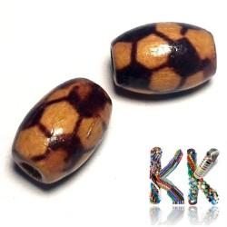Dřevěný korálek - ∅ 8 x 12 mm - olivka
