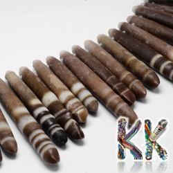 Přírodní zkamenělá ježovka - ∅ 5-15 x 30-75 mm - jehlice