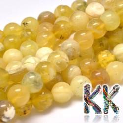 Přírodní žlutý opál - ∅ 8 mm - kulička