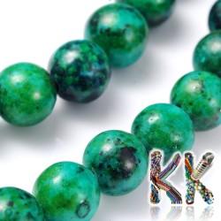 Přírodní chryzokol - ∅ 8 mm - barvené kuličky