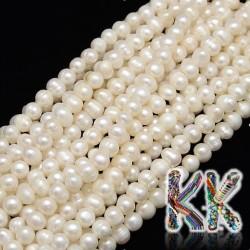 Přírodní perly - ∅ 7-8 mm - oválky - kvalita A