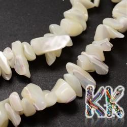 Přírodní perleťové zlomky z ulit - 5-8 x 5-8 mm - 5 g