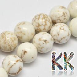 Přírodní bílý tyrkys - ∅ 6 mm - kulička