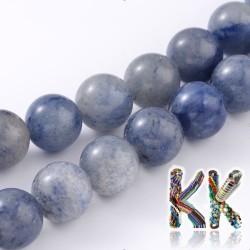 Přírodní modrý avanturín - ∅ 8 mm - kulička - lehce dobarvovaný