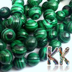 Korálky ze syntetického malachitu - kulička - ∅ 8 mm