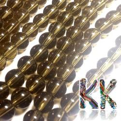 Matné korálky - průhledné - ∅ 8 mm (3 ks)