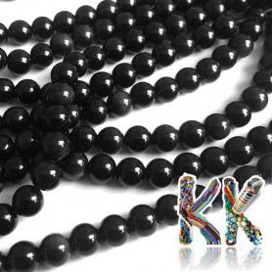 Přírodní obsidián - ∅ 4 mm - kulička