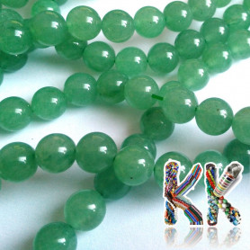 Přírodní zelený avanturín - ∅ 8 mm - kulička