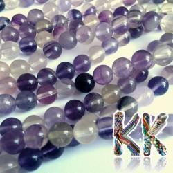 Přírodní fialový fluorit - ∅ 8 mm - kulička