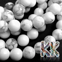 Přírodní howlitové korálky - ∅ 4 mm - kulička