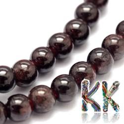 Přírodní granát - ∅ 6 mm - kulička